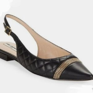 Karl Lagerfeld Calais quilted black flats size 8